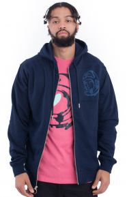 Orbit Zip-Up Hoodie - Navy Blaze