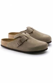 Boston Soft Footbed Sandals - Taupe Suede