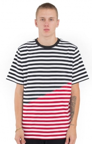 Color Block Stripe T-Shirt - Red