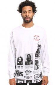Born X Raised Clothing, BWR All Over L/S Shirt - White