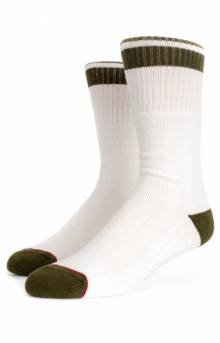 Alameda Socks - White/Olive