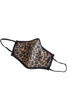 Antimicrobial 4-Way Stretch Face Mask - Leopard