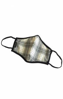 Antimicrobial 4-Way Stretch Face Mask - White Plaid