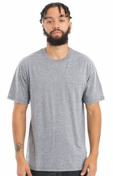 Basic Pocket T-Shirt - Heather Grey
