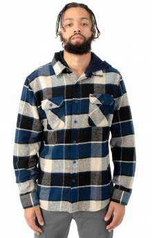 Bowery Hood L/S Flannel Button-Up Shirt - Black/Blue