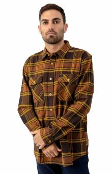 Bowery L/S Flannel - Brown/Gold
