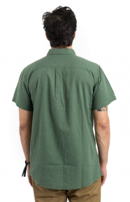 Brixton Clothing, Central S/S Button-Up Shirt - Chive