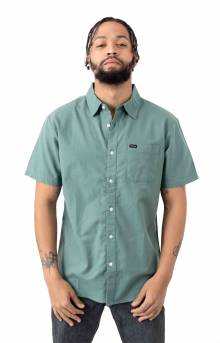 Charter Oxford S/S Button-Up Shirt - Jade