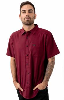 Charter Oxford S/S Button-Up Shirt - Maroon
