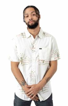 Charter Print S/S Button-Up Shirt - Dove