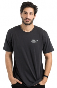 Brixton Clothing, Dash T-Shirt - Washed Black