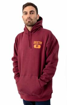 Brixton Forte V Pullover Hoodie - Maroon