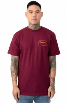 Grade T-Shirt - Burgundy/Red