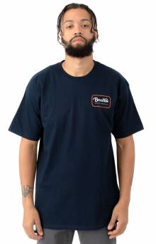 Grade T-Shirt - Navy/Orange