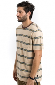 Brixton Clothing, Hilt Washed Pocket T-Shirt - Sand