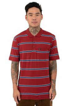 Hilt Washed S/S Polo - Burgundy/Navy