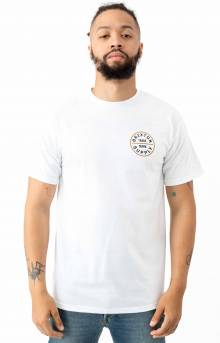 Oath T-Shirt - White/Bronze