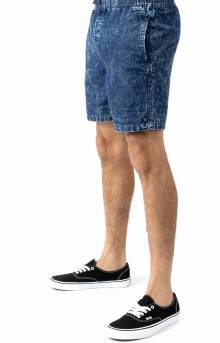 Steady Elastic WB Shorts - Navy Acid Wash