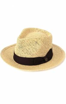 Swindle Straw Fedora - Dark Tan