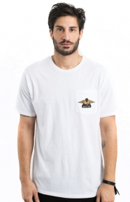Brixton Clothing, Turret Pocket T-Shirt - White