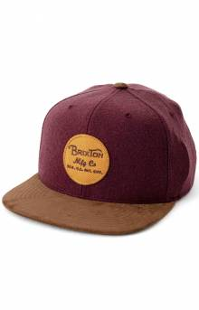 Wheeler Snap-Back Hat - Plum