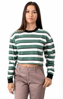 Emily L/S Crop Shirt - Emerald
