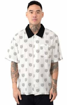 Trial Woven Button-Up Shirt - White/Black