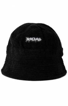 Iconic Terry Cloth Bucket Hat - Black