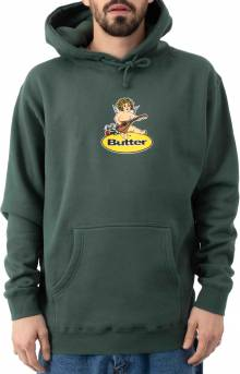Angel Badge Pullover Hoodie - Forest Green