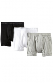 Classic 3 Pack Boxer Briefs ( NU3019) - Grey/White/Black