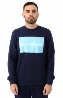 Logo Block Crewneck - Peacoat