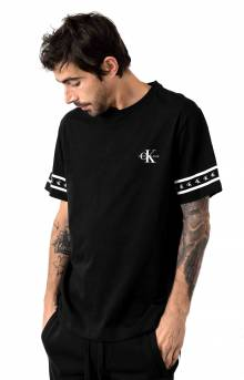 Monogram Logo Tape Crewneck T-Shirt - Black