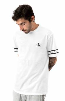 Monogram Logo Tape Crewneck T-Shirt - White