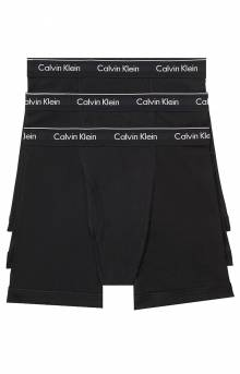 (NB003 001) Boxer Brief 3 Pack - Black