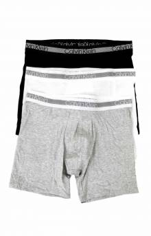 (NB1798 900) CK Cooling 3 Pack Boxer Brief - Grey/Black/White