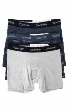 (NP2168O 903) Boxer Brief 3 Pack - Mood Heather