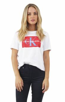 Cropped Logo T-Shirt - Standard White