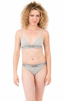 Unlined Triangle Bra - Grey