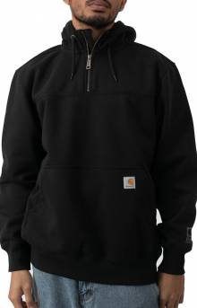 (100617) Rain Defender Paxton HW Hooded Zip Mock Sweatshirt - Black