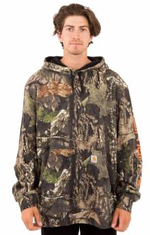 (101763) MW Camo Sleeve Logo Pullover Hoodie - Mossy Oak Break-Up Country