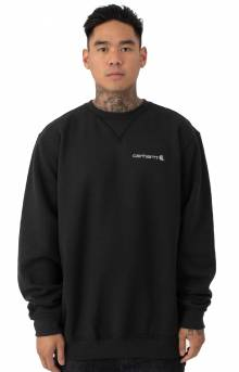 (103307) Midweight Graphic Crewneck - Black