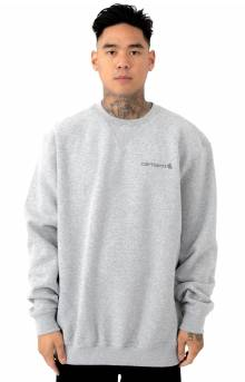 (103307) Midweight Graphic Crewneck - Heather Grey