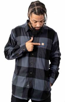(103315) Rugged Flex Hamilton Fleece Lined Shirt - Bluestone
