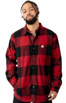 (103315) Rugged Flex Hamilton Fleece Lined Shirt - Dark Crimson