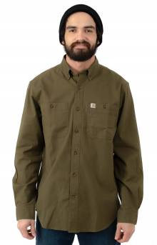 (103554) Rugged Flex Rigby L/S Work Shirt - Military Olive