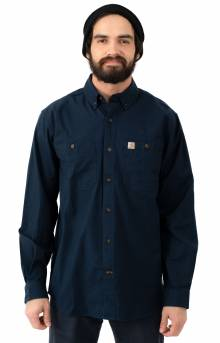 (103554) Rugged Flex Rigby L/S Work Shirt - Navy