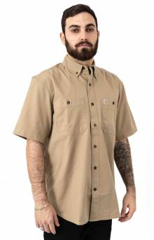 (103555) Rugged Flex Rigby S/S Work Shirt - Dark Khaki