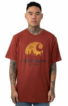 (103564) Maddock Mountain C Graphic T-Shirt - Fire Brick Heather