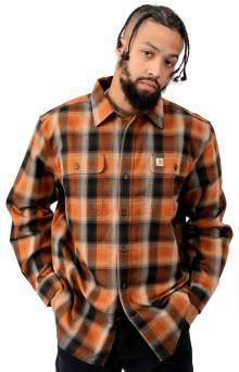 (103822) Hubbard Plaid Flannel Shirt - Umber