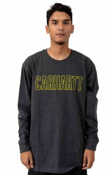 (103841) Workwear Block Logo Graphic L/S Shirt - Carbon Heather